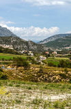 Village in the mountains of the Pyrenees Stock Photos