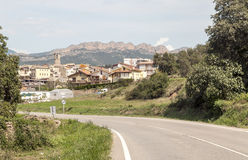 Village in the mountains of the Pyrenees Royalty Free Stock Photo