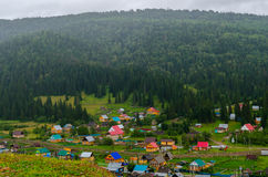 The village in the mountains of the Southern Urals. Stock Images