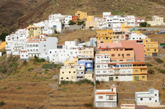 Village in the Mountains. Tenerife, Spain Royalty Free Stock Photo