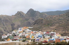 Village in the Mountains. Tenerife, Spain Stock Images