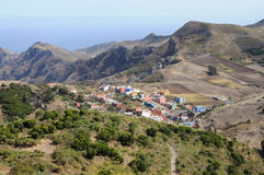 Village in the Mountains. Tenerife, Spain Stock Photos