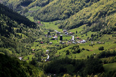 Village in the mountains in Transylvania Royalty Free Stock Image