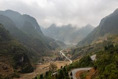 Village in the mountains Vietnam royalty free stock photography