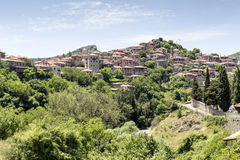 The village in the mountains royalty free stock photos
