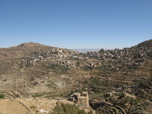 Village in the mountains of Yemen Stock Photos