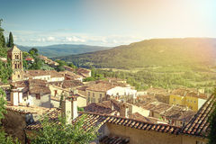 Village of Moustiers-Sainte-Marie Stock Photo