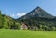 The village in moutains of Tyrol, Austria Stock Photo