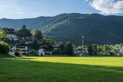 The village in moutains of Tyrol, Austria Royalty Free Stock Photos