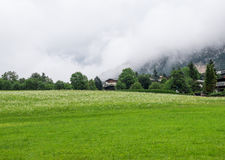 The village in moutains of Tyrol, Austria Royalty Free Stock Photo