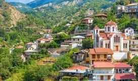 Village Moutoullas Secteur de Nicosie Cypr Image libre de droits