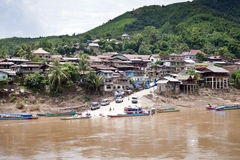 Village Muang Khua Stock Photo