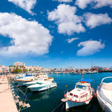 Village Murcie de marina de port d'Aguilas en Espagne Photos stock