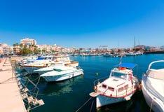 Village Murcie de marina de port d'Aguilas en Espagne Image libre de droits