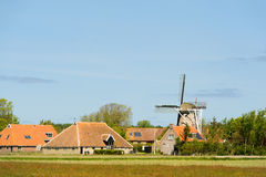 Village néerlandais chez Terschelling Photographie stock