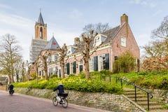 Village néerlandais traditionnel de Streetview Image libre de droits