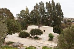 Village néolithique en Chypre Choirokoitia image libre de droits