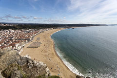 Village of Nazare seen from Sitio Stock Image