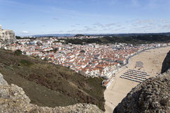 Village of Nazare seen from Sitio Stock Photo