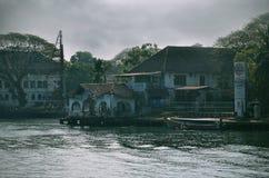 Village Near Body Of Water Stock Image