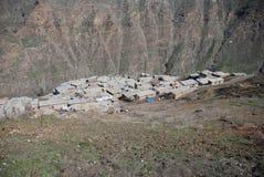 Village. A village is near the botan river in siirt turkey Stock Photo