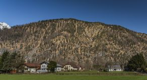 Village near Ebensee sea and town in big Alps. Village near Ebensee sea and town in big Austrian Alps Royalty Free Stock Image