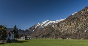 Village near Ebensee sea and town in big Alps. Village near Ebensee sea and town in big Austrian Alps Royalty Free Stock Photo