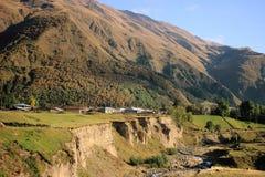 The village near Georgian Military Road Royalty Free Stock Image