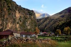 The village near Georgian Military Road Royalty Free Stock Photography