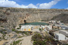 Village near inland sea in Gozo, Malta Royalty Free Stock Photography