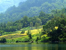 The village near Lake Toba Royalty Free Stock Photos