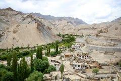 Village near Lamayuru monastery, Ladakh, India Stock Photo