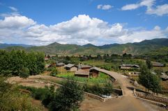 Village near lugu lake Stock Images