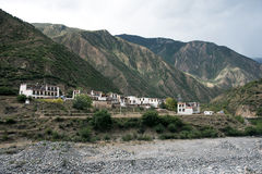 village near mountain on the road form Kunming to Shangri-la, Ch Stock Images