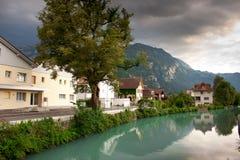 Village near the mountains Royalty Free Stock Photos