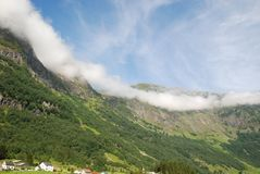 Village near Naeroyfjord Stock Photos