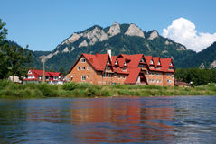 Village near a river Royalty Free Stock Photography