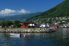 Village near Sognefjord Stock Photo