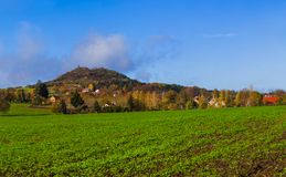 Village near town Jicin - Czech Republic. Nature and architecture background Royalty Free Stock Images