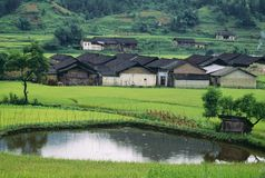 Village Near Yangshuo Stock Images