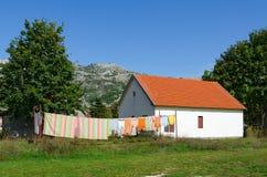 Village of Negushi in mountainous area, Montenegro Royalty Free Stock Photography