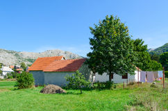 Village of Negushi in mountainous area, rural landscape, Montenegro Stock Photography