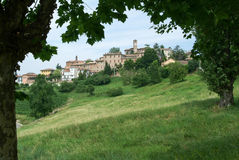 The Village of Neive in Piedmont Stock Images
