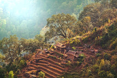 Village in Nepal Royalty Free Stock Images
