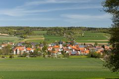 The village Netra in Hesse. In Germany royalty free stock photography