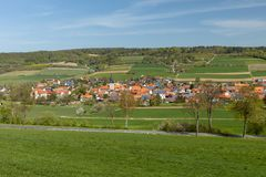 The village Netra in Hesse. In Germany royalty free stock photo
