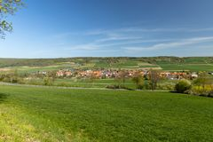 The village Netra in Hesse. In Germany royalty free stock images