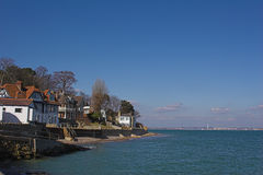 Village next to sea Stock Images