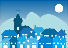 Village by night Stock Images