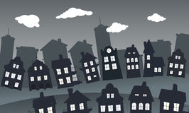 Village in the night Royalty Free Stock Photo
